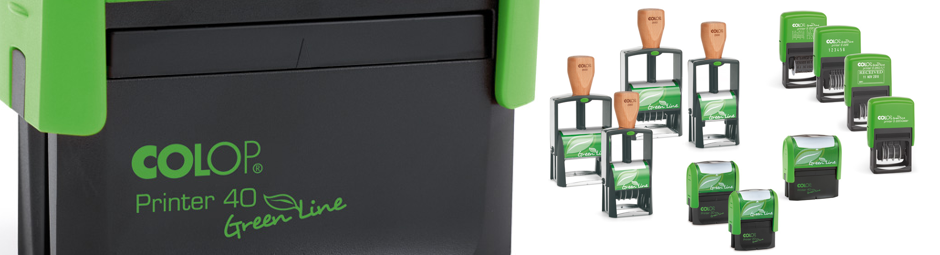 Self-inking, environmentally friendly stamps by Colop